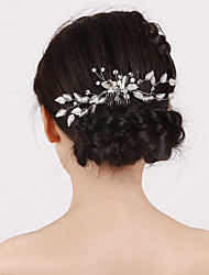 Vintage Charming Design Wedding Bride Handmake Headband Pearls Flower Combs Hair Accessior Flower Silver