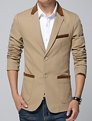 Men's Fashion High Quality Casual Solid Two Button Plus Size Slim Suit