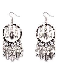 Drop Earrings Rhinestone Alloy Drop Gold Silver Jewelry 2pcs