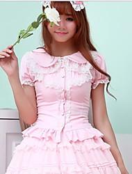 Chemisier/Chemise Doux Rose Noir Blanc Accessoires Lolita  Pour Plastique renforcé