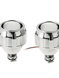 2pcs CARCHET HID Headlight Bi-Xenon Projector Kit Lens for H4 H7 H1 Sockets