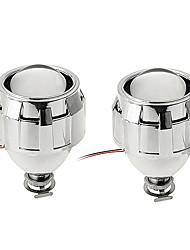 2pcs carchet cacha phares bi-xénon objectif du kit de projecteur pour les sockets h1 H7 h4