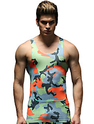 Running Tank Men's Breathable Running Sports Sports Wear Green S / M / L / XL