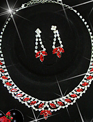 Lucky Doll 925 Silver Plated Gemstone & Crystal Zirconia geometry Tassel Necklace & Earrings Jewelry Sets
