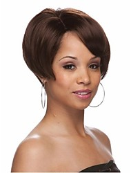 New Style  Women Lady  Syntheic Wig Extensions Brown Wig