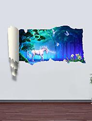 Animais / Botânico / Romance / Paisagem Wall Stickers Autocolantes 3D para Parede , PVC