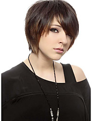 Layered Haircut Hand Tied -Top Human Virgin Remy Short Straight Capless Hair Wig