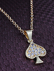 Xinjiu allergy-Term Trend Heart Pendants Decorative Jewelry Plated 18K Gold Necklace Clavicle