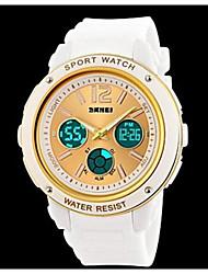 tre fusi orari delle donne analogico-digitali watchmens elastico polso sportivo Watch, orologi unisex
