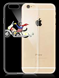 nova moda cavaleiro do fantasma dos desenhos animados 3d padrão TPU caso de telefone macio para iphone 6plus / 6s mais