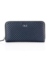 CKI Men Wallets Vintage Genuine Leather Unique Design Briefcases Men Cowhide Business Clutch Bags Blue