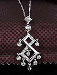 Xinjiu plated 18K Fine Jewelry Diamond Necklace Ms. Exquisite Creative Green Copper