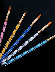 1Set Helical Nail Art Acrylic Pen Carving Crystal Pen Brush Pen (5pcs/set)