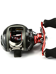 DMK DM120RA-C3 12 Bearing Bait Casting Fishing Reel Gear Ratio 6.3:1 Max Drag 5kg Left Handle  Magnetic Brake