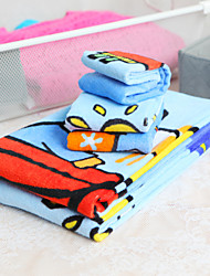 3-piece 100% Cotton Cartoon Pattern Towel Set