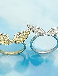 Angel Wings Opening Fashion Rings