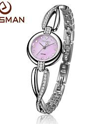 EASMAN Women Watch Purple Crystal Bracelet Natural Seashell Dial Blue Quartz Watch Sapphire Glass Female Wrist watch