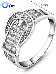 2015 High Quality Genuine 925 Sterling Silver Wedding Engagement Delicate Accent Cubic Zirconia Rings For Lady