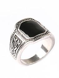 Black Gem ring Hollow Diamond Ring
