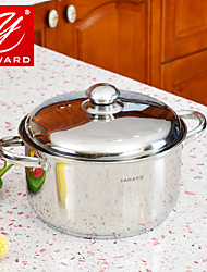 YAWARD 24cm Stainless Steel Cooking Pot Casserole With Heat-resistant Knob Stainless steel Lib