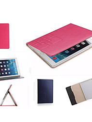 Luxury Grid Leather Case Card wallet Stand Smart Cover protective book cases For ipad Mini 4(Assorted Color)