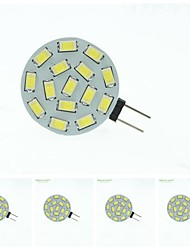 8W G4 Spot LED MR11 15 SMD 5630 700-900 lm Blanc Chaud / Blanc Naturel Gradable DC 12 / AC 12 / AC 24 / DC 24 / 9-30 V 5 pièces