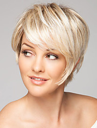 Fashion Hand Tied -Top Human Virgin Remy Capless Short Straight Hair Wigs