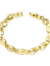 Fashion Rotate Chain & Link Bracelet(Golden,Rose Gold,White)(1Pair)