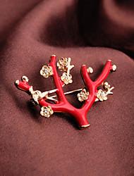 style européen brindille rouge de fête de mode Broche
