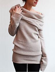 Women's New Heaps Collar Long Sleeve Comfort T-shirt