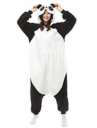 Kigurumi Pijamas Panda Collant/Pijama Macacão Festival/Celebração Pijamas Animais Dia das Bruxas Preto branco Patchwork Color BlockLã