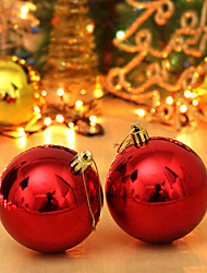 8cm (A Packet Of 6) Christmas Colorful Ball Dumb Light Ball Christmas Tree Ornaments