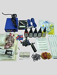 Tattoo Kit 1  Machine With Power Supply Grips Back Stem Tube 5x15ML Ink Needles