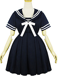 Black Polyester  Navy Costume