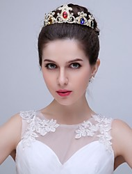 Women's Alloy / Cubic Zirconia Headpiece - Wedding / Special Occasion / Outdoor Tiaras 1 Piece with hairpins