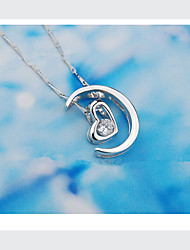 (Pendant + Necklace)Silver Set Auger Silver Pendant S925 Silver Jewelry Necklace