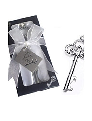 Silver-Finish Key Design Wine Opener Party Souvenir