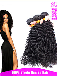 "Mongolian Kinky Curly Hair Weave 3Pcs/Lot Afro Kinky Curly Virgin Hair Extensions Can Be Dyed 8""-26"" Stocks"