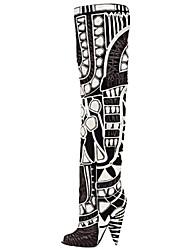Zapatos de mujer - Tacón Cono - Tacones - Tacones - Oficina y Trabajo / Vestido / Fiesta y Noche - Cuero - Negro