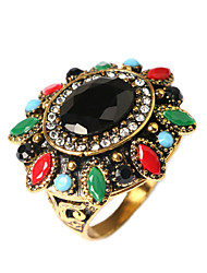 Ring Fashion Party Jewelry Gold Plated Women Statement Rings 1pc,One Size Gold