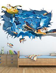 Desenho Animado / 3D Wall Stickers Autocolantes 3D para Parede , PVC 60*90cm