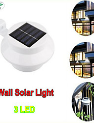 LED Solar Lamp Sensor Waterproof Solar Light 3 LEDs Street Light Outdoor Path Wall Lamp Security Spot Lighting