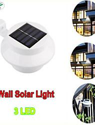 sensor de lámpara solar llevada impermeable luz solar 3 leds luz de la calle camino al aire libre iluminación puntual seguridad lámpara de