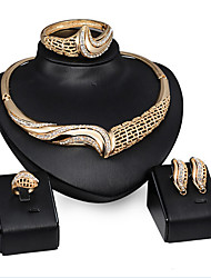 May Polly  The explosion and exaggerated banquet Bracelet Ring Necklace Earrings Set