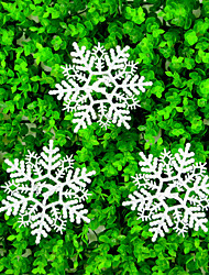 Christmas decoration gifts Colored snowflakes, color random