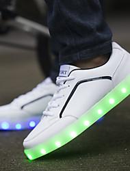 carga de los zapatos ocasionales de los hombres del USB LED llevó la luz luminosa (tamaño: 39-44)
