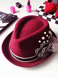 Women Nylon Fedora Hat , Vintage / Casual Winter