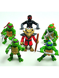 2015 hot sale 6stk / lot Teenage Mutant Ninja Turtles TMNT action figurer legetøj sæt klassiske kollektion
