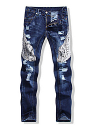 Vintage / Informell / Party Mittlere Hüfthöhe - Jeans - MEN - Hosen ( Baumwolle )