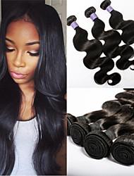 """alta qualidade 3pcs onda corpo peruano / lote não processado tecelagem cabelo virgem 8 """"-30"""" tramas do cabelo baratos"""